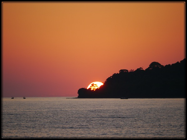 koh rong coucher soleil